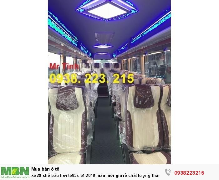 Xe 29 chỗ bầu hơi tb85s e4 2019 mẫu mới-giá rẻ-chất lượng-thẩm mỹ-giao nhanh tại Sài Gòn 11