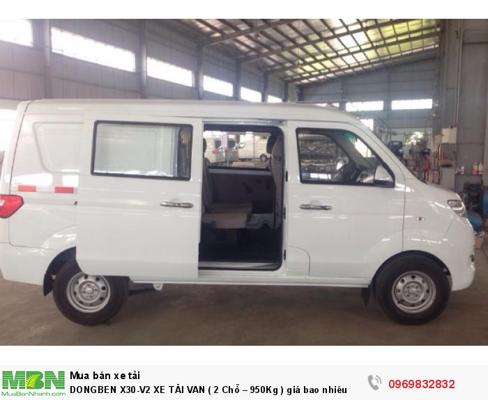 Dongben X30-V2 Xe Tải Van  2 Chỗ,  950kg