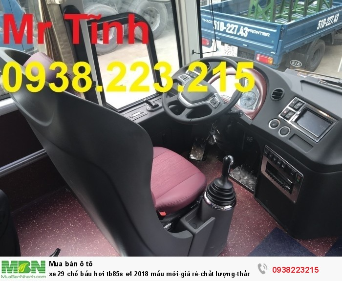 Xe 29 chỗ bầu hơi tb85s e4 2019 mẫu mới-giá rẻ-chất lượng-thẩm mỹ-giao nhanh tại Sài Gòn 12