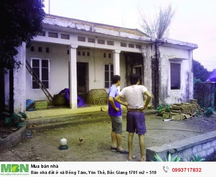 Bán nhà đất ở xã Đồng Tâm, Yên Thế, Bắc Giang 1701 m2 = 510 triệu