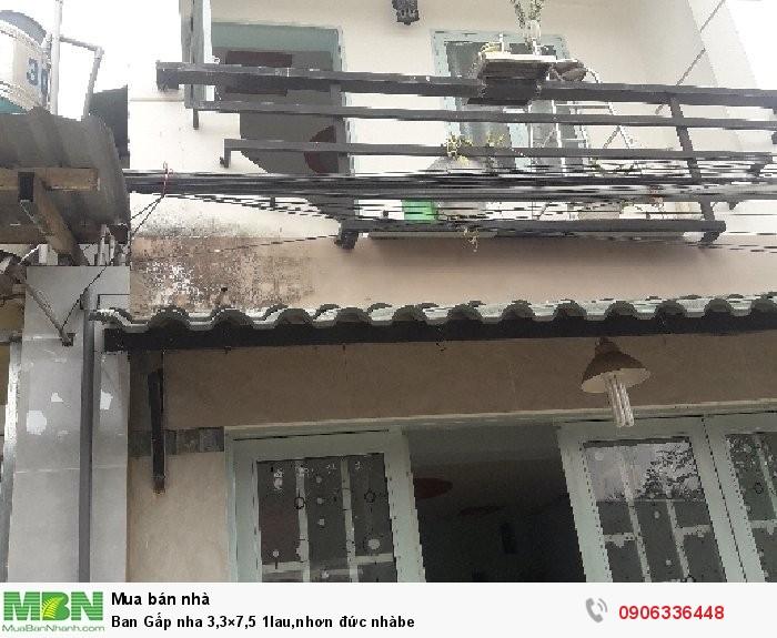 Ban Gấp nhà 3,3×7,5 1 lầu, Nhơn Đức, Nhà Bè
