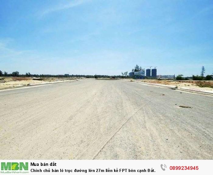 Chính chủ bán lô trục đường lớn 27m liền kề FPT bên cạnh Đất Quảng Riverside