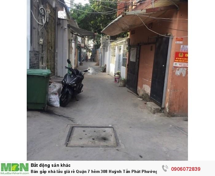 Bán gấp nhà lầu giá rẻ Quận 7 hẻm 308 Huỳnh Tấn Phát Phường Tân Thuận Tây, DT:42m2