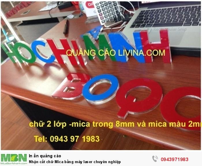 Nhận cắt chữ Mica bằng máy laser chuyên nghiệp