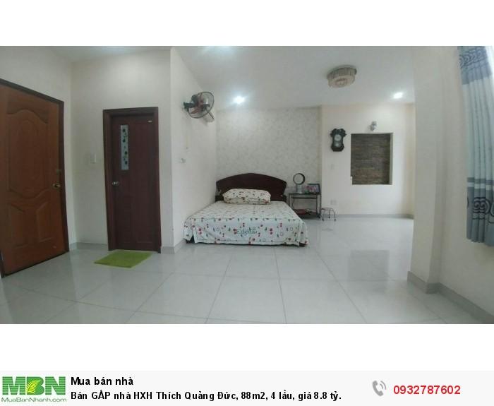 Bán GẤP nhà HXH Thích Quảng Đức, 88m2, 4 lầu, giá 8.8 tỷ.