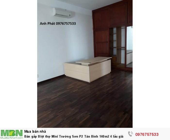 Bán gấp Biệt thự Mini Trường Sơn P2 Tân Bình 140m2 4 lầu