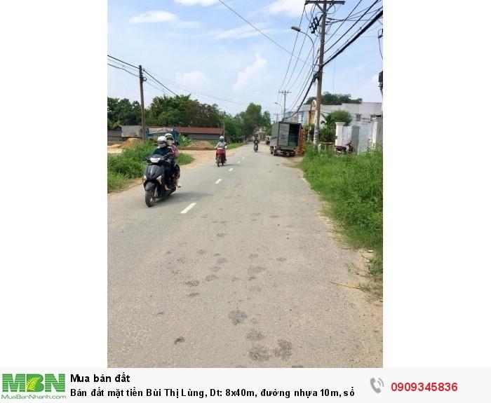 Bán đất mặt tiền Bùi Thị Lùng, Dt: 8x40m, đường nhựa 10m, sổ hồng riêng