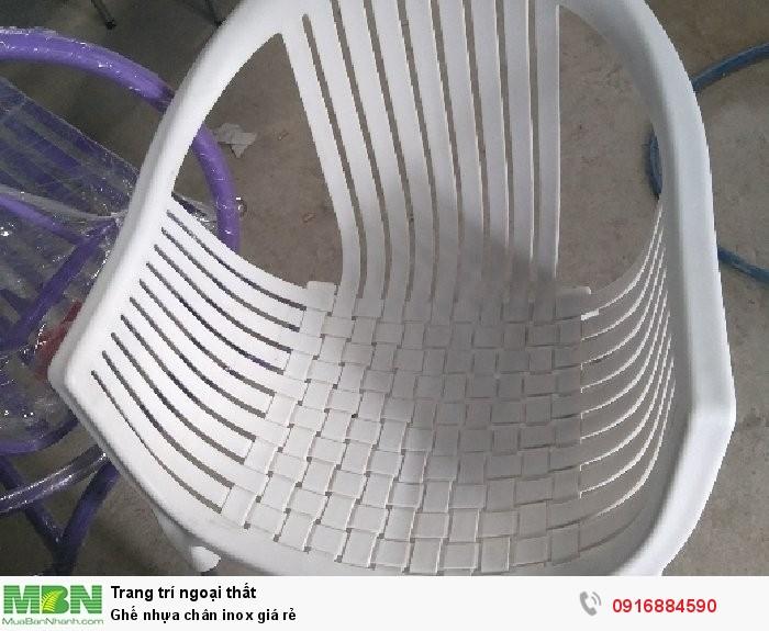Ghế nhựa chân inox giá rẻ