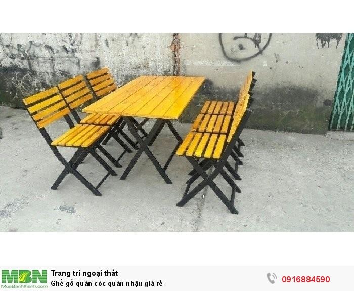 Ghế gỗ quán cóc quán nhậu giá rẻ