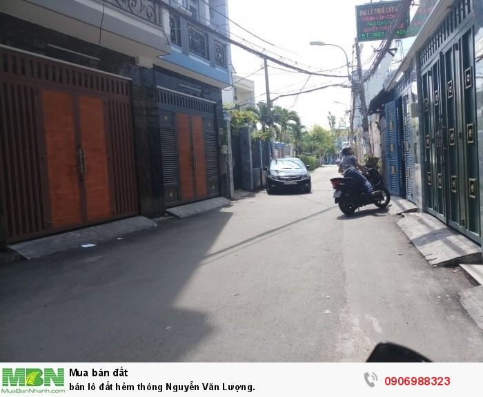 Bán lô đất hẻm thông Nguyễn Văn Lượng.