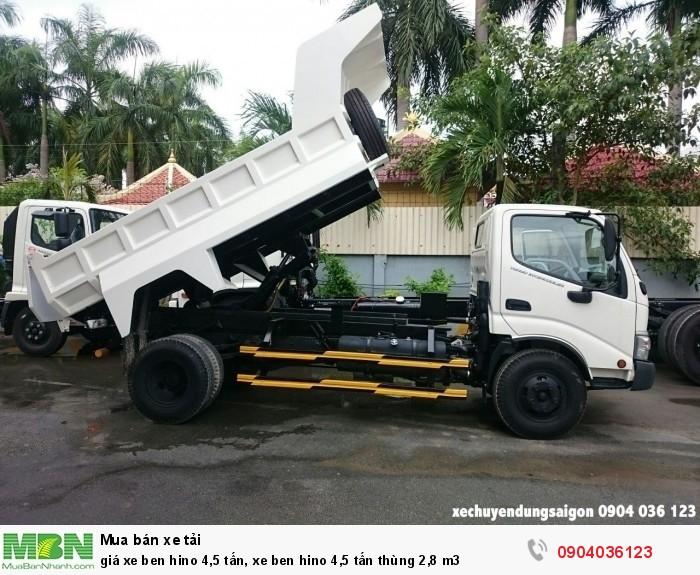 Giá xe Ben Hino 4,5 tấn, xe ben Hino 4,5 tấn thùng 2,8 m3 1