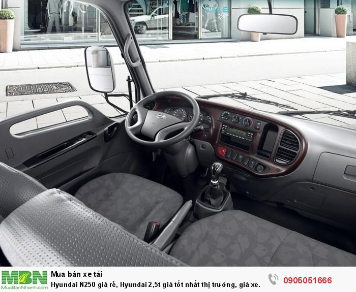 Hyundai N250 giá rẻ, Hyundai 2,5t giá tốt nhất thị trường, giá xe hyundai 2,5t 4