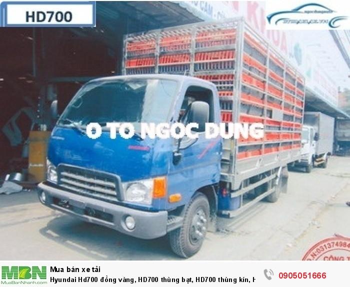 Hyundai Hd700 đồng vàng, HD700 thùng bạt, HD700 thùng kín, HD700 giá rẻ