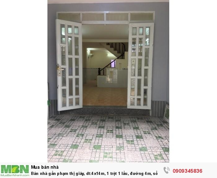 Bán nhà gần phạm thị giây, dt:4x14m, 1 trệt 1 lầu, đường 4m, sổ hồng riêng
