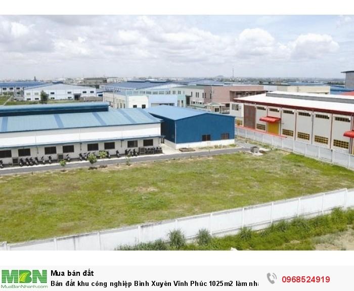 Bán đất khu công nghiệp Bình Xuyên Vĩnh Phúc 1025m2 làm nhà xưởng, kho bãi