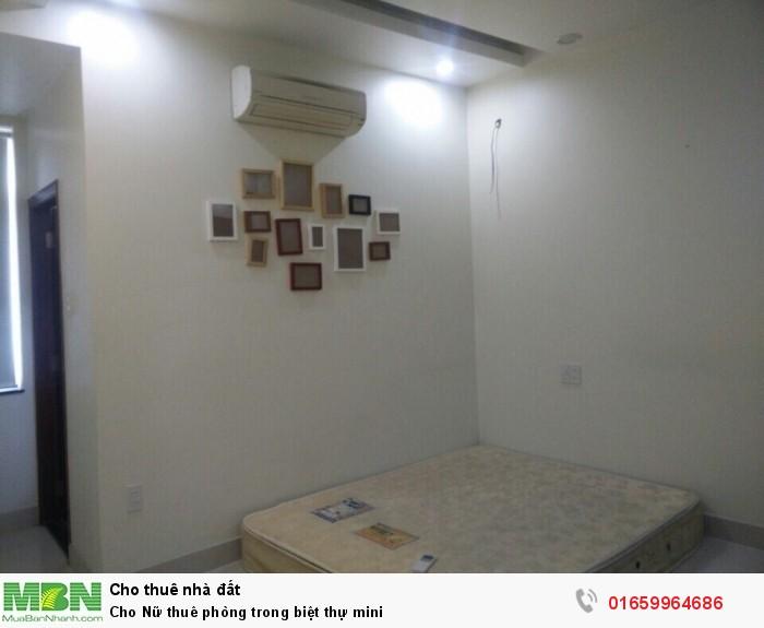 Cho Nữ thuê phòng trong biệt mini có chìa khóa riêng