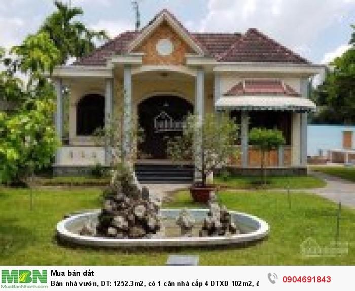Bán nhà vườn, DT: 1252.3m2, có 1 căn nhà cấp 4 DTXD 102m2, đường Thạnh Lộc 57, Q12,