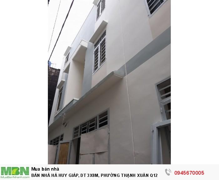 Bán Nhà Hà Huy Giáp, Dt 3x8m, Phường Thạnh Xuân Q12
