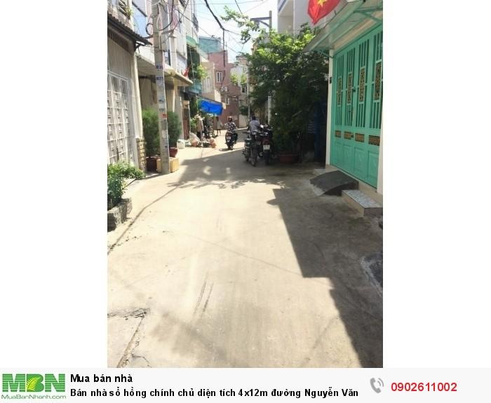 Bán nhà sổ hồng chính chủ diện tích 4x12m đường Nguyễn Văn Đậu P.5 Bình Thạnh.