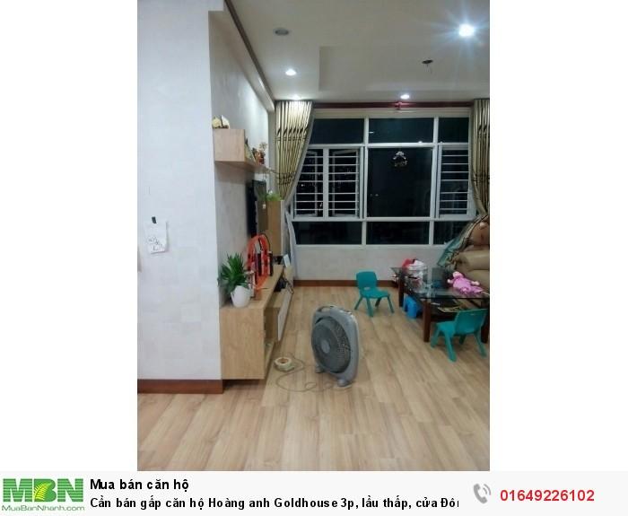 Cần bán gấp căn hộ Hoàng anh Goldhouse 3p, lầu thấp, cửa Đông Nam, nhà đẹp có sổ hồng