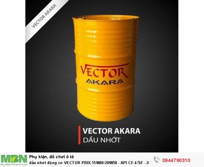 Dầu nhớt động cơ VECTOR PRIX 15W40/20W50 - API CF-4/SF - 200L