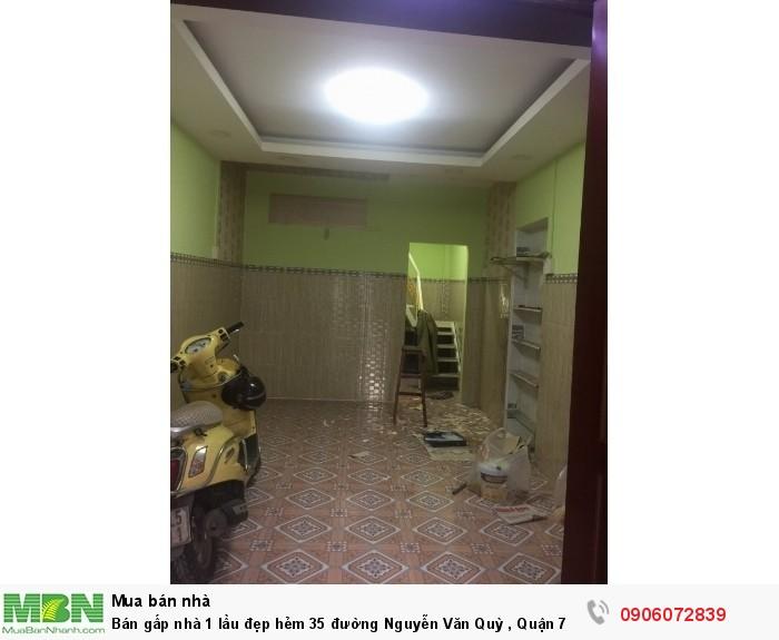 Bán gấp nhà 1 lầu đẹp hẻm 35 đường Nguyễn Văn Quỳ , Quận 7./ dt: 50M2
