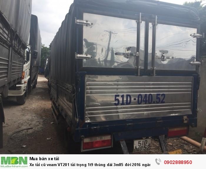 Xe tải cũ veam VT201 tải trọng 1t9 thùng dài 3m85 đời 2016 ngân hàng thanh lý 2