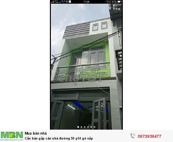Cần bán gấp căn nhà đường 59 p14 Gò Vấp