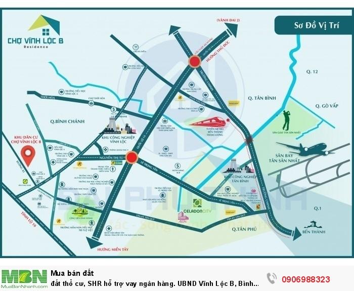 Đất thổ cư, SHR hỗ trợ vay ngân hàng. UBND Vĩnh Lộc B, Bình Chánh.