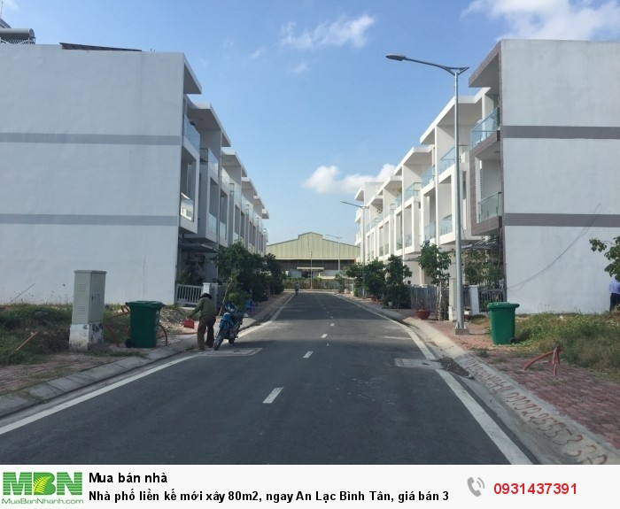 Nhà phố liền kế mới xây 80m2, ngay An Lạc Bình Tân, giá bán
