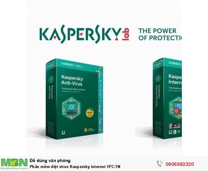 Phần mềm diệt virus Kaspersky internet 1PC/1N
