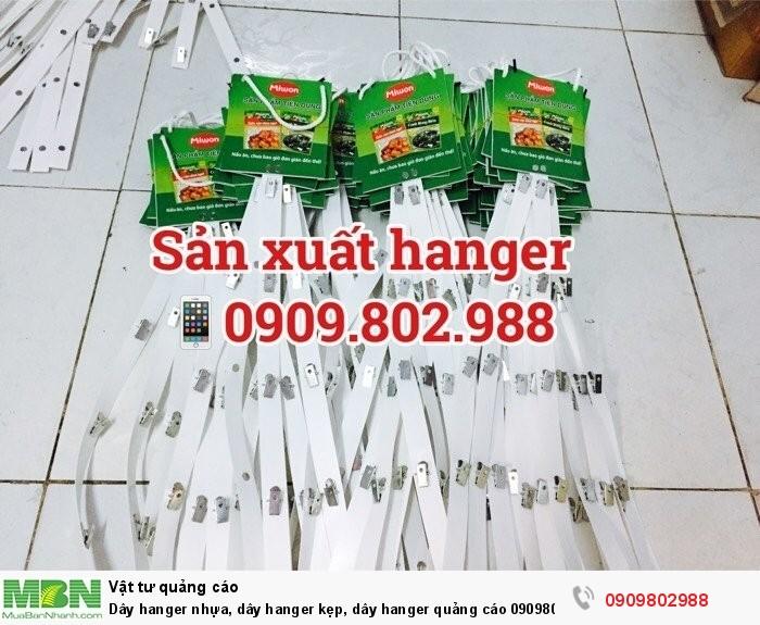Dây hanger nhựa, dây hanger kẹp, dây hanger quảng cáo3