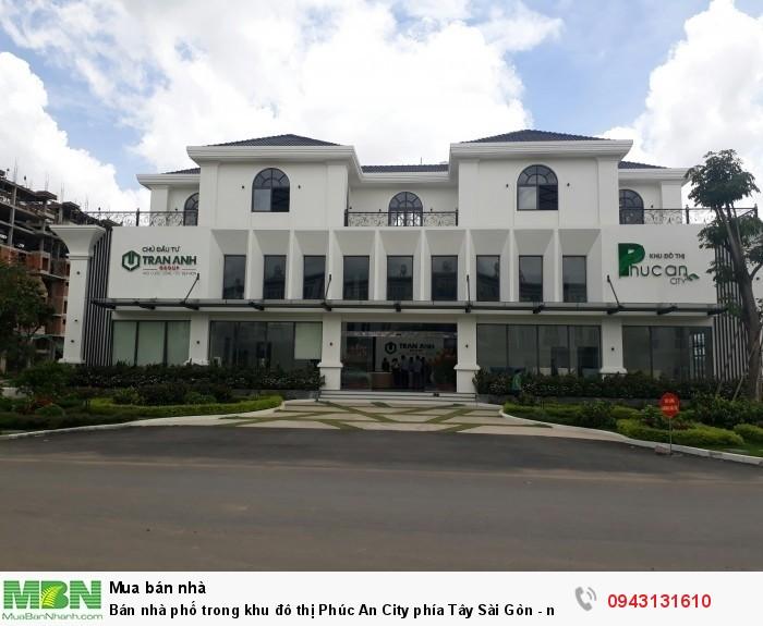 Bán nhà phố trong khu đô thị Phúc An City phía Tây Sài Gòn - nhà 1 trệt 2 lầu diện tích 5x15 có sổ hồng riêng và hoàn công trọn gói