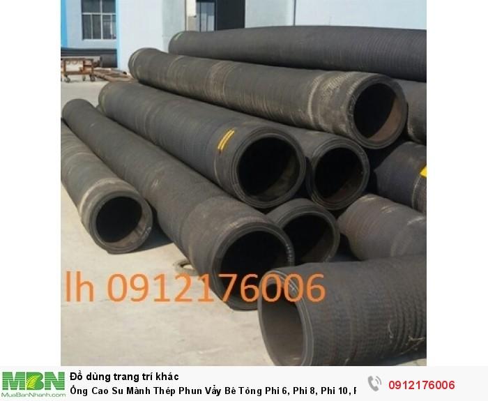 Ống Cao Su Mành Thép Phun Vẩy Bê Tông Phi 6,8,10,12......1