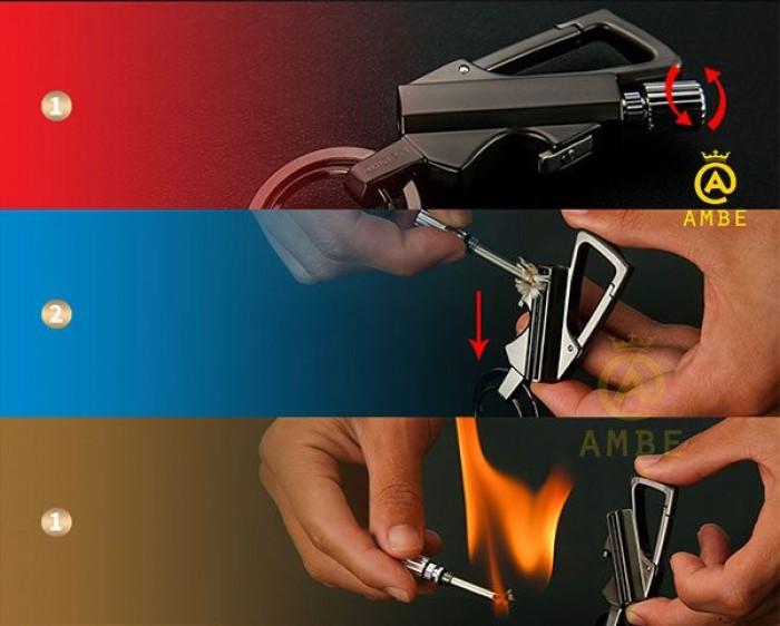 Bật lửa diêm xăng kiêm móc khóa Honest BCK25