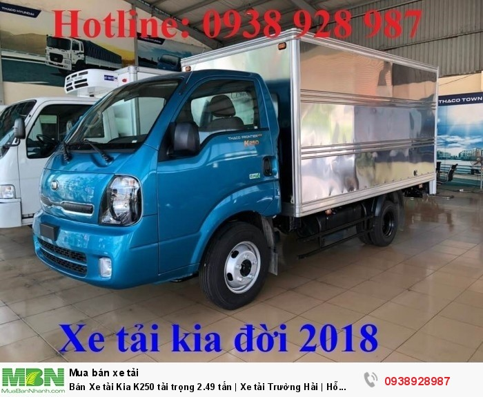 Bán Xe tải Kia K250 tải trọng 2.49 tấn | Xe tải Trường Hải | Hỗ trợ mua xe tải trả góp 0