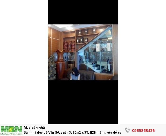 Bán nhà đẹp Lê Văn Sỹ, quận 3, 80m2 x 3T, HXH tránh, oto đỗ cửa,  giá 11.5 tỷ.