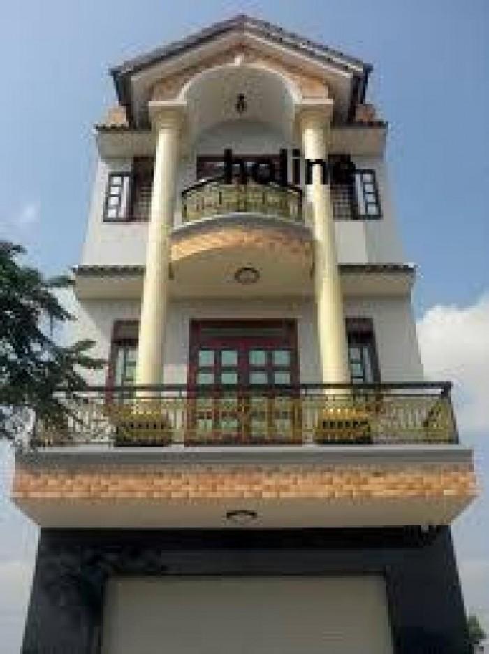 Bán nhà Quận 8, sổ hồng, mặt tiền 4x15m, nở hậu 6m, 3 lầu