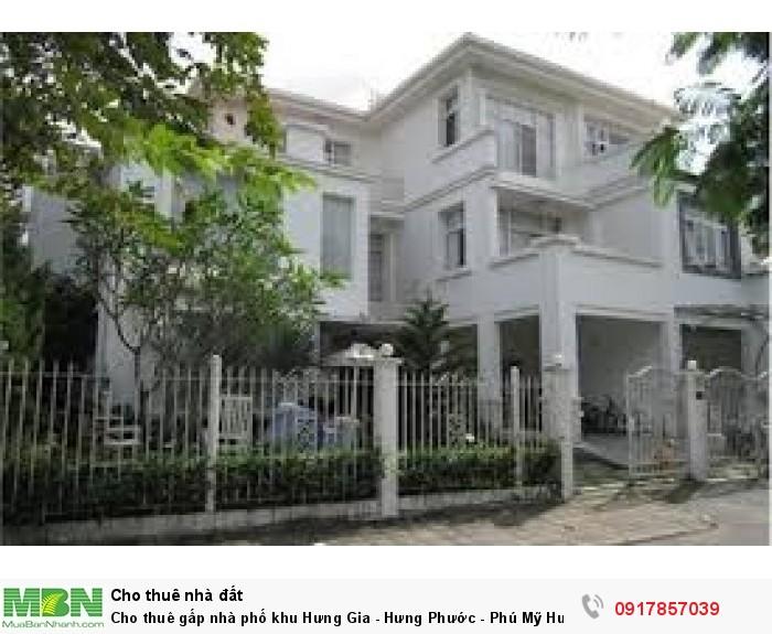 Cho thuê gấp nhà phố khu Hưng Gia - Hưng Phước - Phú Mỹ Hưng, Quận 7 với giá rẻ