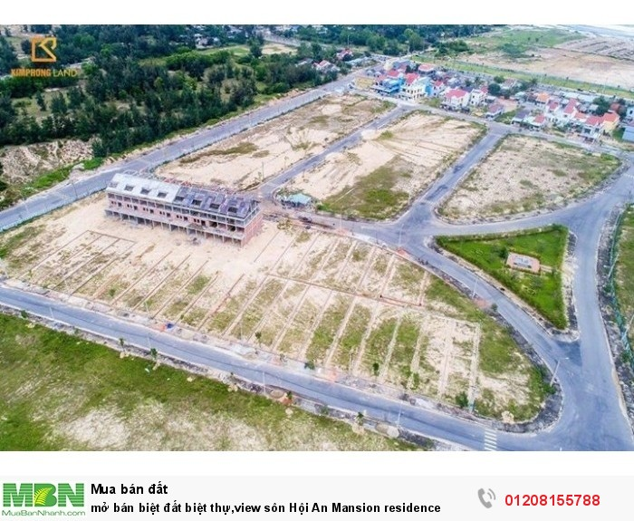 mở bán biệt đất biệt thự,view sôn Hội An Mansion residence
