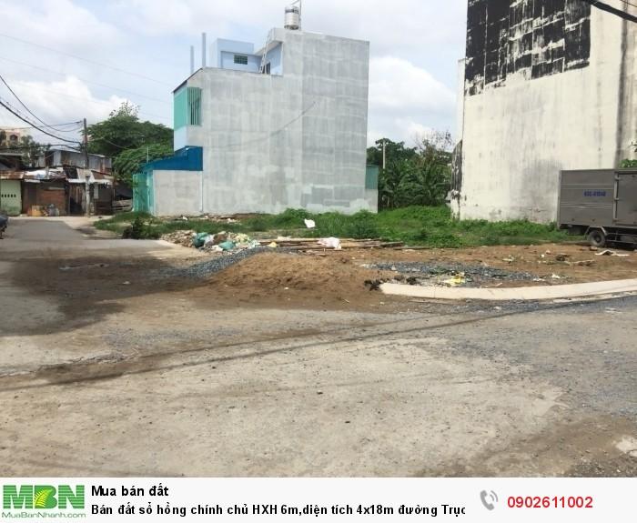 Bán đất sổ hồng chính chủ HXH 6m,diện tích 4x18m đường Trục p.13 Bình Thạnh.
