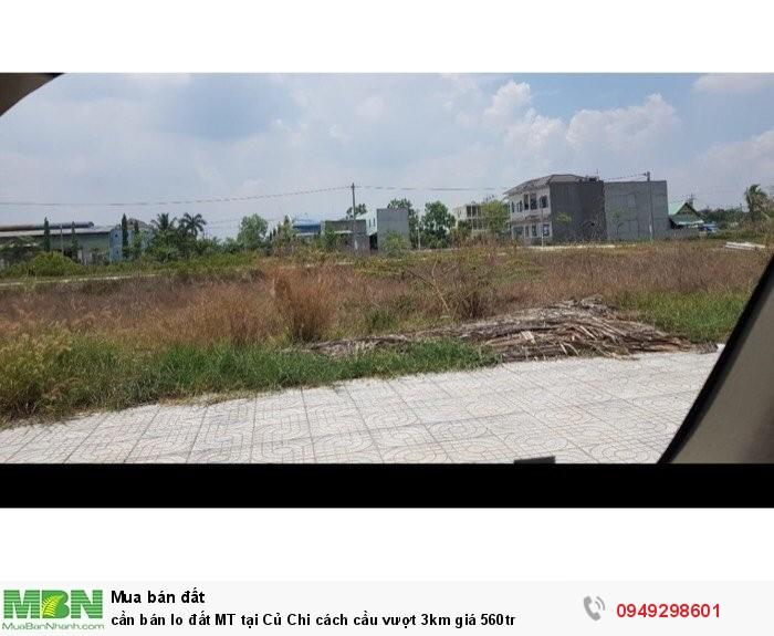 Cần bán lo đất MT tại Củ Chi cách cầu vượt 3km giá 560tr
