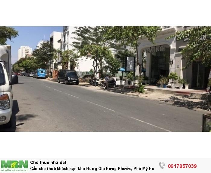 Cần cho thuê khách sạn khu Hưng Gia Hưng Phước, Phú Mỹ Hưng, Quận 7.giá 4000usd/th