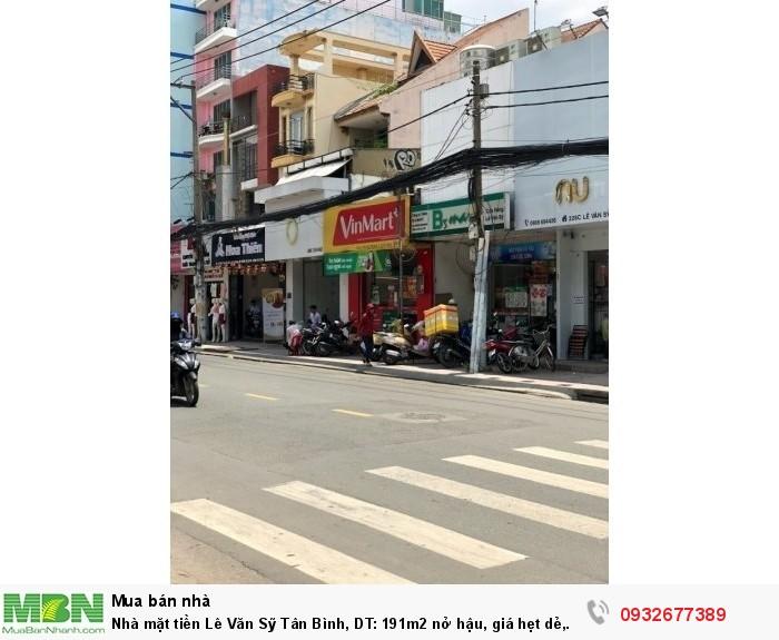 Nhà mặt tiền Lê Văn Sỹ Tân Bình, DT: 191m2 nở hậu, giá hẹt dẻ, hiện đang làm siêu thị mini