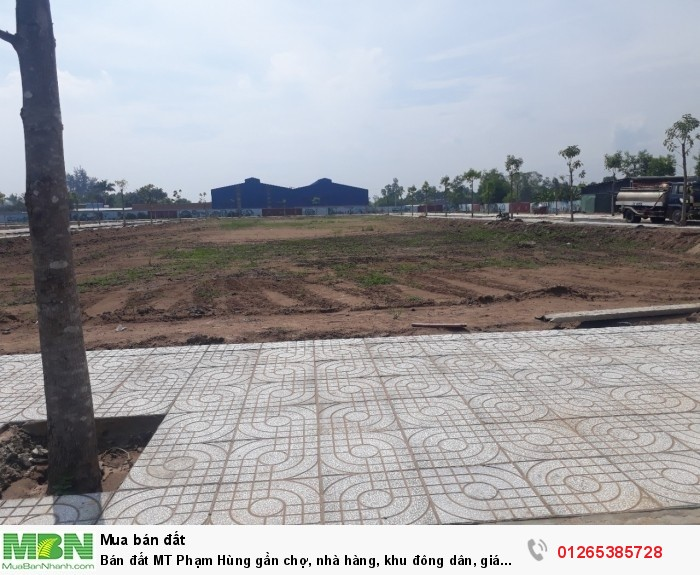 Bán đất MT Phạm Hùng gần chợ, nhà hàng, khu đông dân, SHR,