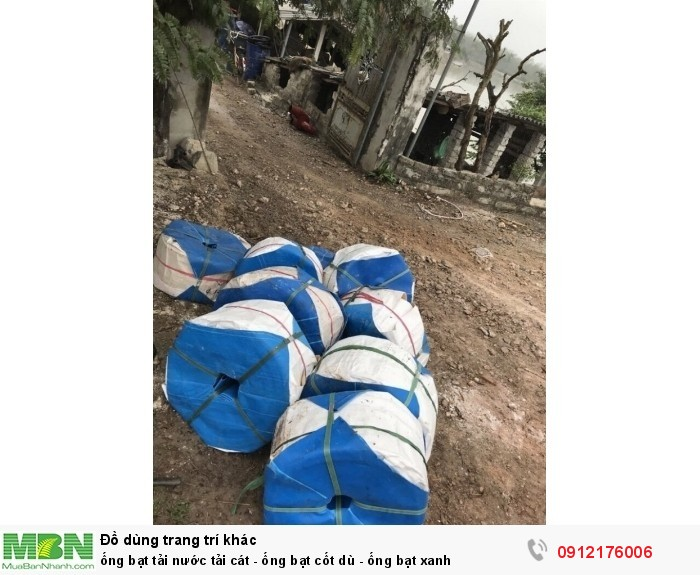 Ống bạt tải nước tải cát - ống bạt cốt dù - ống bạt xanh