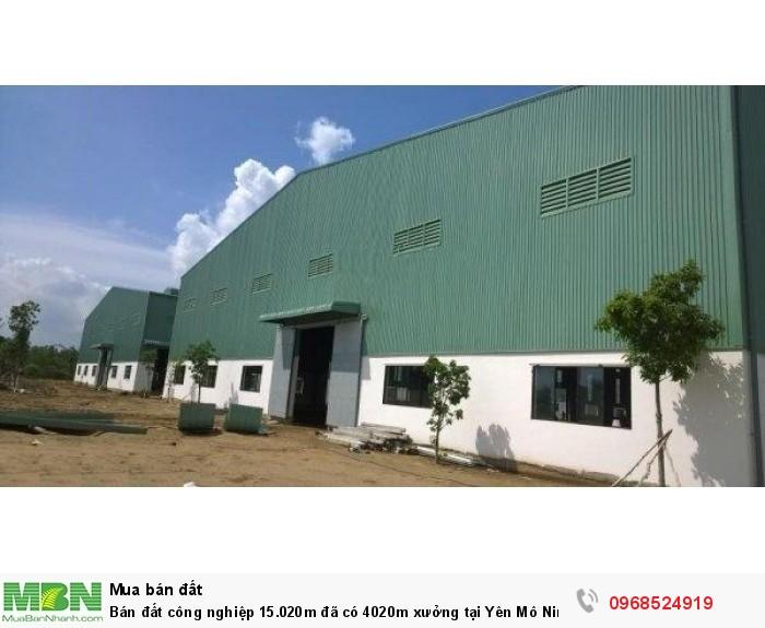 Bán đất công nghiệp 15.020m đã có 4020m xưởng tại Yên Mô Ninh Bình