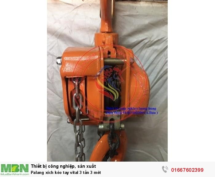 Palang xích kéo tay vital 3 tấn 3 mét