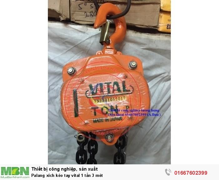 Palang xich kéo tay vital 1 tấn 3 mét