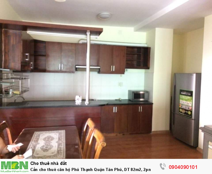 Cần cho thuê căn hộ Phú Thạnh Quận Tân Phú, DT 82m2, 2pn
